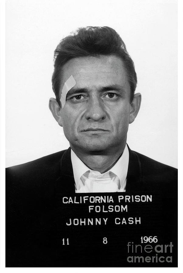 Johnny Cash Photograph - Johnny Cash Mugshot by Jon Neidert