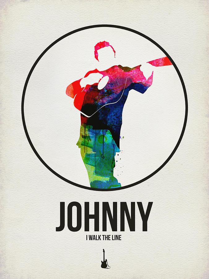 Johnny Cash Digital Art - Johnny Cash Watercolor by Naxart Studio