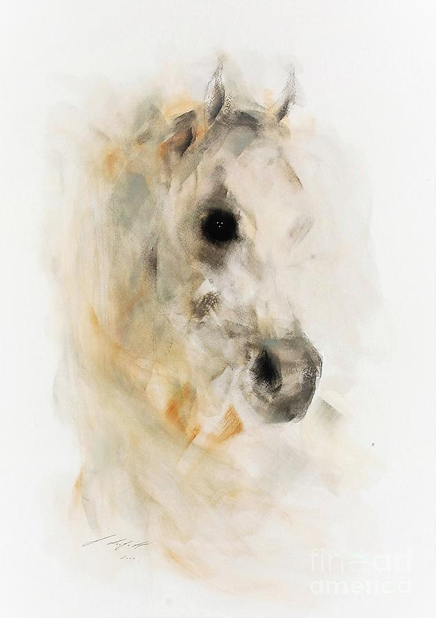 Horse Painting - Johnny by Janette Lockett