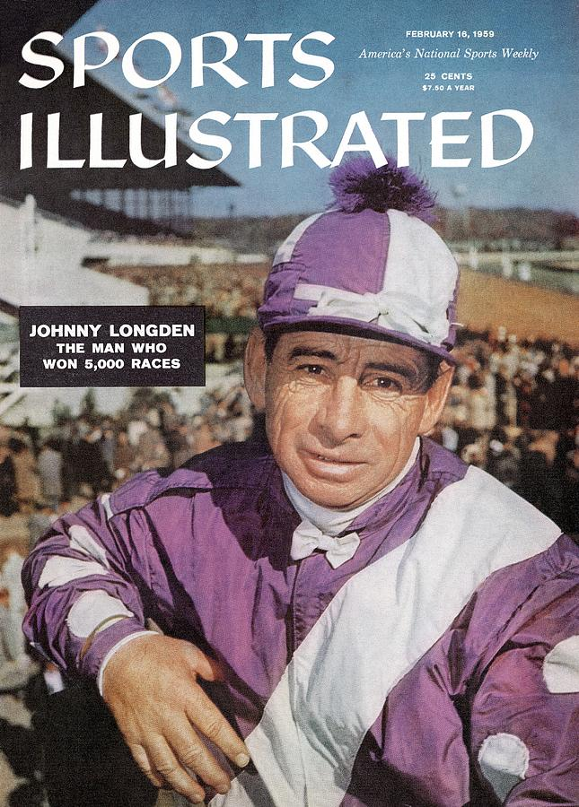 Johnny Longden, 1955 Laurel International Race Sports Illustrated Cover Photograph by Sports Illustrated