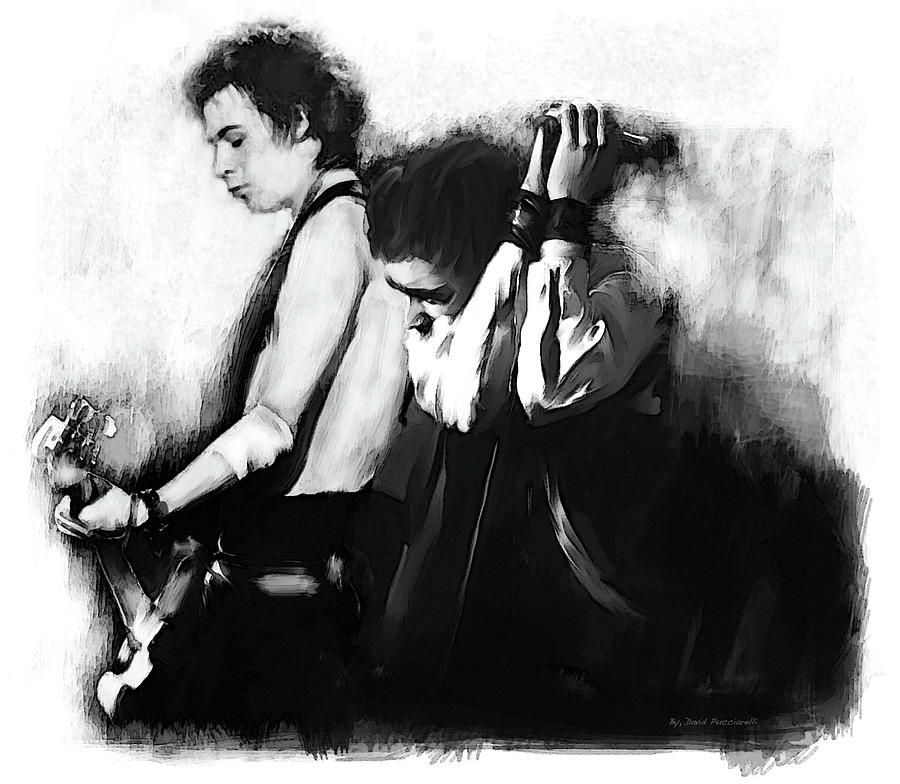 John Lydon and Sid Vicious Allies Time Ago by Iconic Images Art Gallery David Pucciarelli