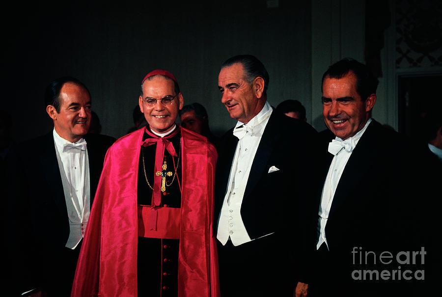 Johnson, Nixon, Cooke And Humphrey Photograph by Bettmann