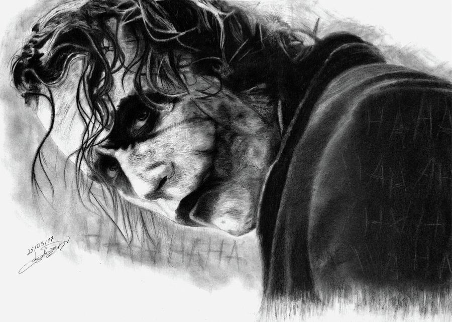Joker Drawing By Garik Asatryan