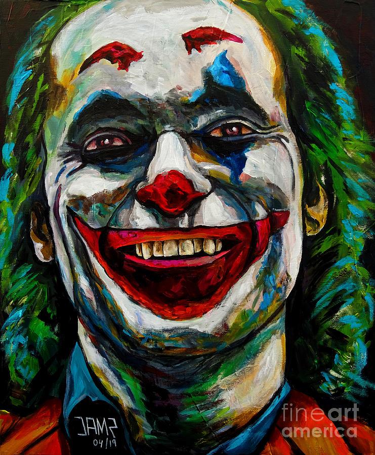 Joaquin Phoenix Painting - Joker Joaquin Phoenix by Jose Mendez