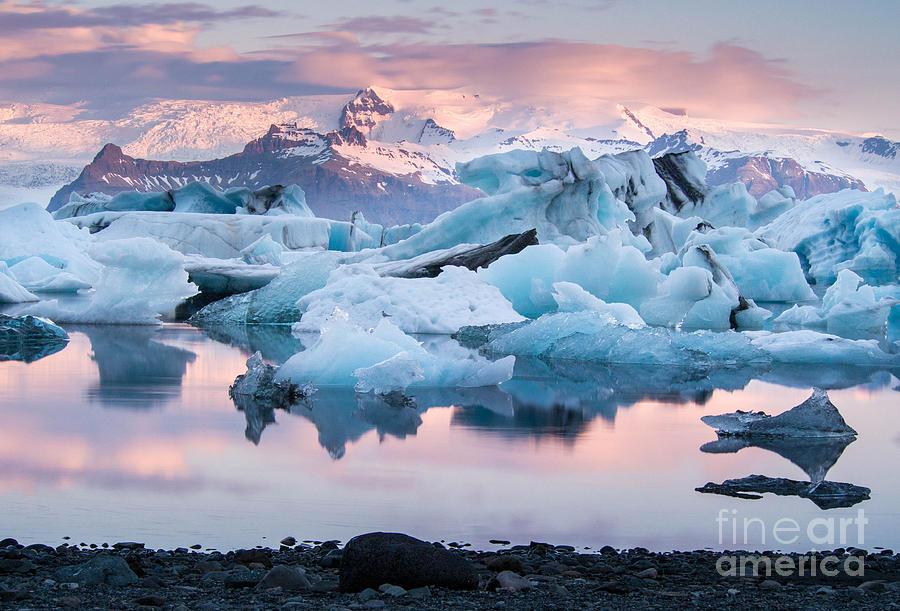 Icelandic Photograph - Jokulsarlon Glacier Lagoon, Iceland by Adellyne