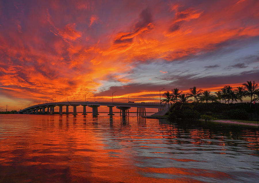 Marco Island Photograph - Jolley Fire Sky by Joey Waves
