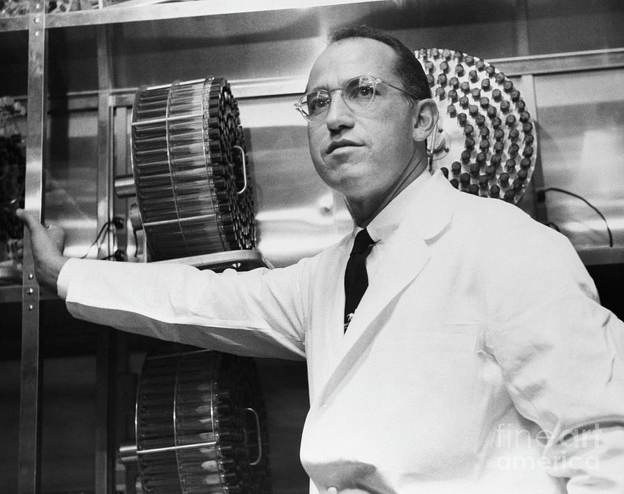 Jonas Salk In His Laboratory Photograph by Bettmann