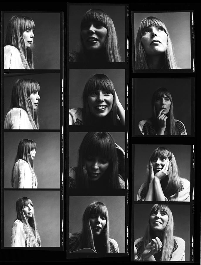 Joni Mitchell Photograph - Joni Mitchell Contact Sheet by Jack Robinson