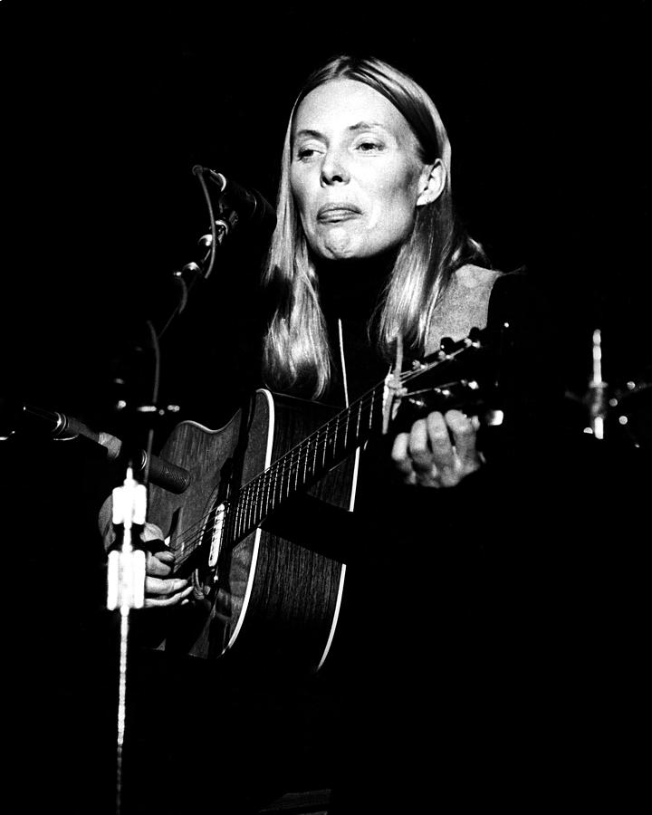 Joni Mitchell Live Photograph by Larry Hulst