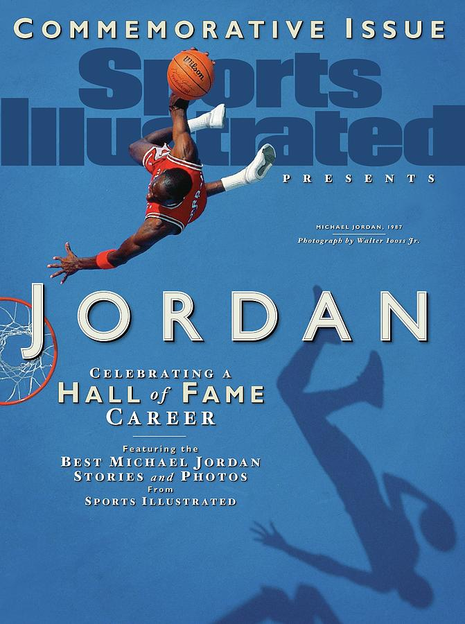 Jordan Celebrating A Hall Of Fame Career Sports Illustrated Cover Photograph by Sports Illustrated