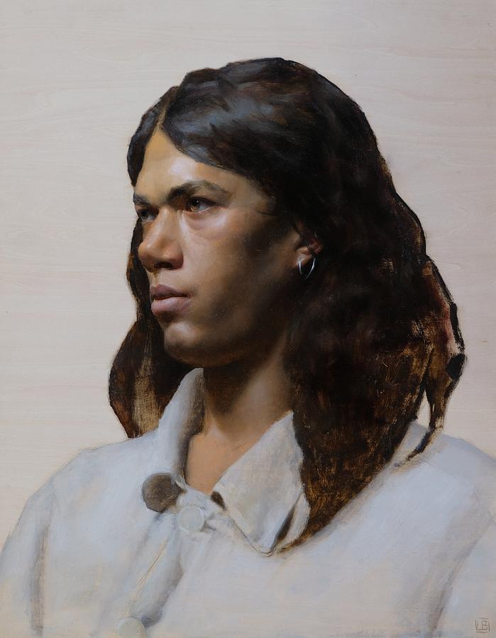Portrait Painting - Jordan by Lucas Bononi