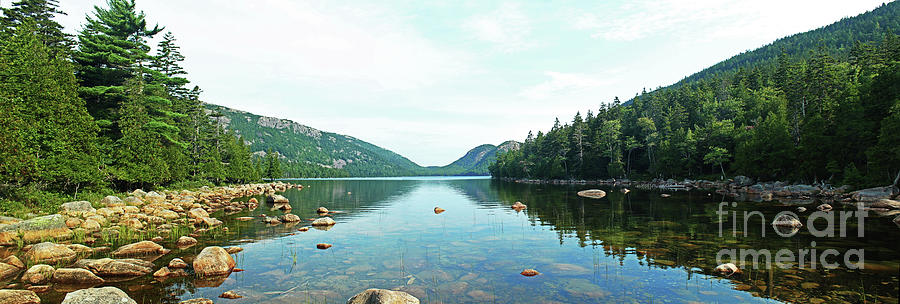 Jordan Pond Panorama Acadia National Park Maine Photograph By Maili Page