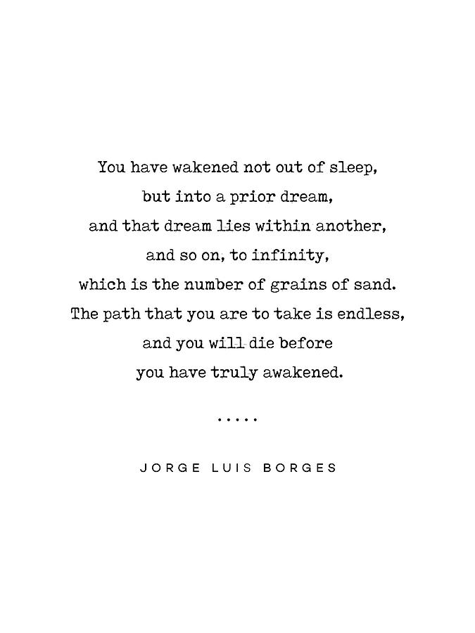 Jorge Luis Borges Quote 01 - Typewriter Quote - Minimal, Modern, Classy,  Sophisticated Art Prints