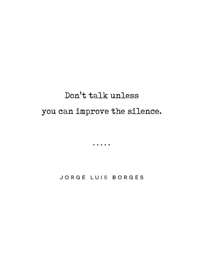 Jorge Luis Borges Quote 04 - Typewriter Quote - Minimal, Modern, Classy,  Sophisticated Art Prints