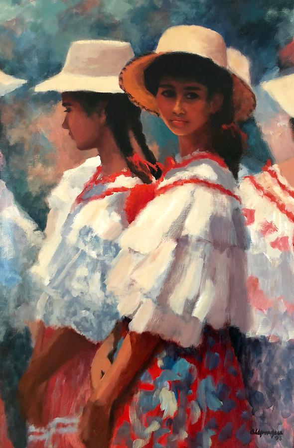 Panama Painting - Josafina by Al Sprague
