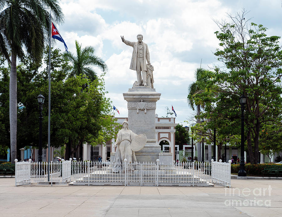 Jose Marti Statue Historic Center Of Cienfuegos Photograph By Kenneth Lempert