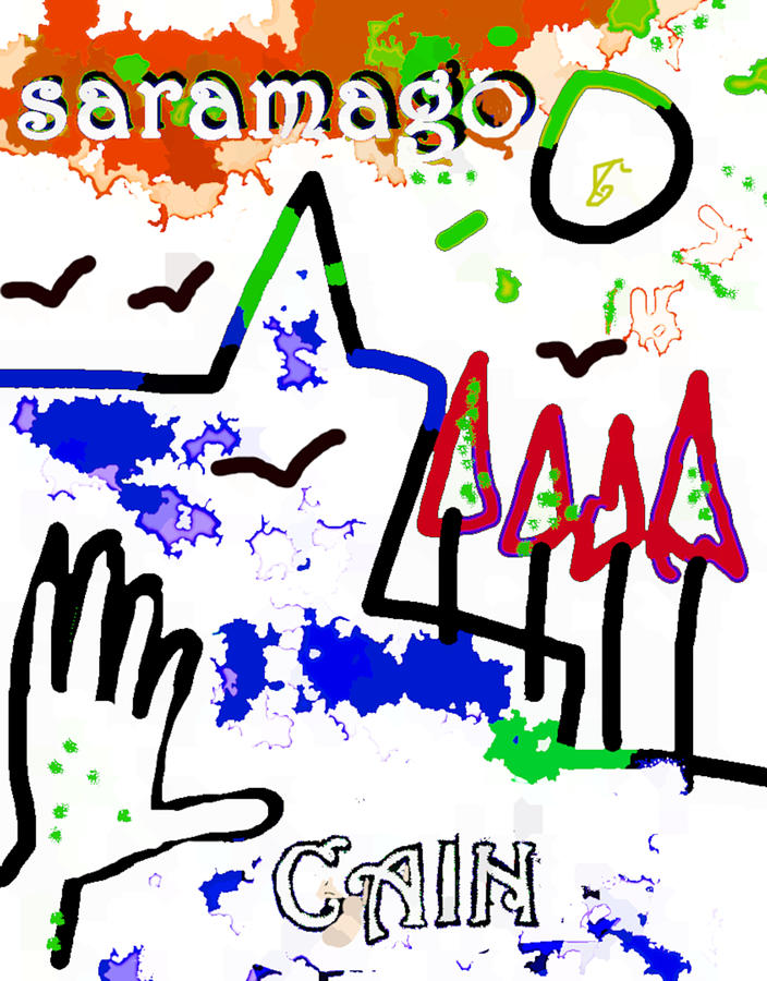 Jose Saramago Cain poster  by Paul Sutcliffe