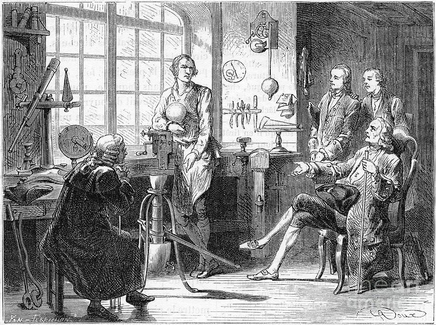 Joseph Black Visiting James Watt Drawing by Print Collector