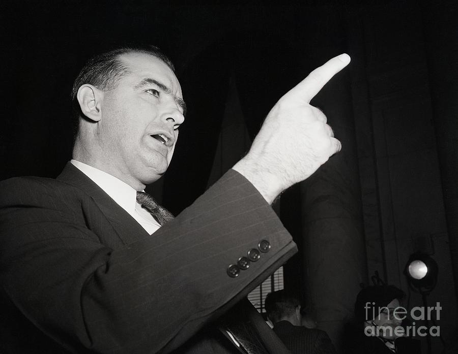 Joseph Mccarthy Making A Point Photograph by Bettmann