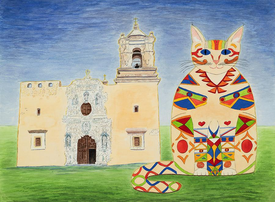 Josephine, Mission San Jose Cat by Vera Smith