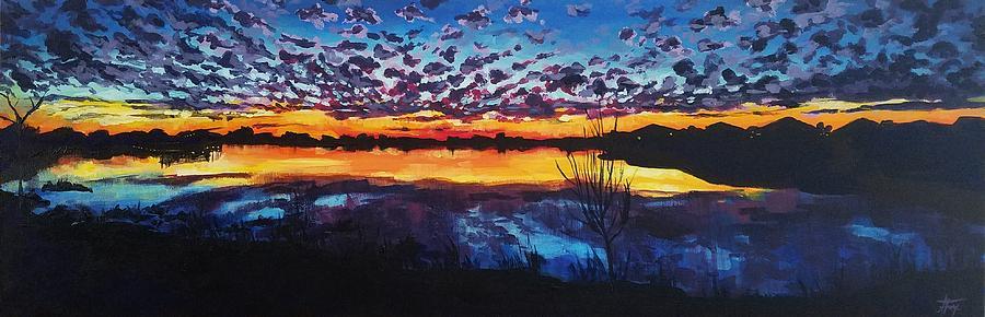 Josey Lake at Sunset by Allison Fox