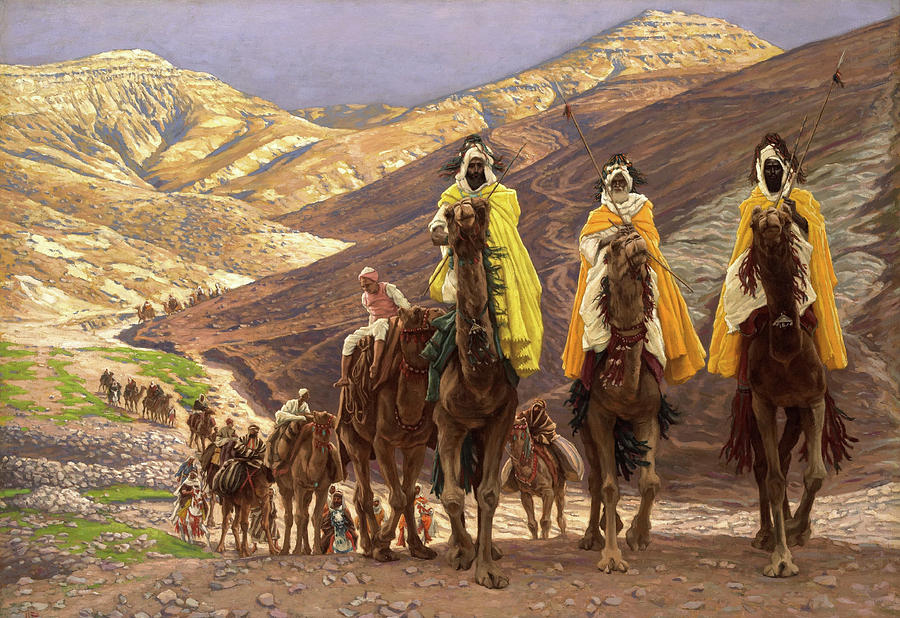 Biblical Magi Painting - Journey Of The Magi by James Tissot