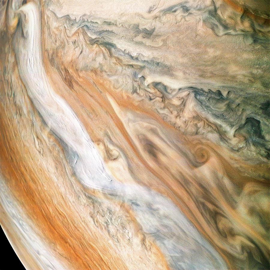 Jupiter Photograph - Jovian Jet Stream by Nasa