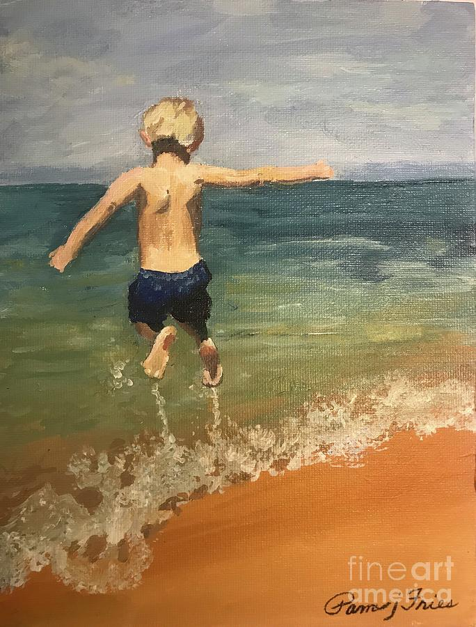 Children Painting - Joy by Pam Fries