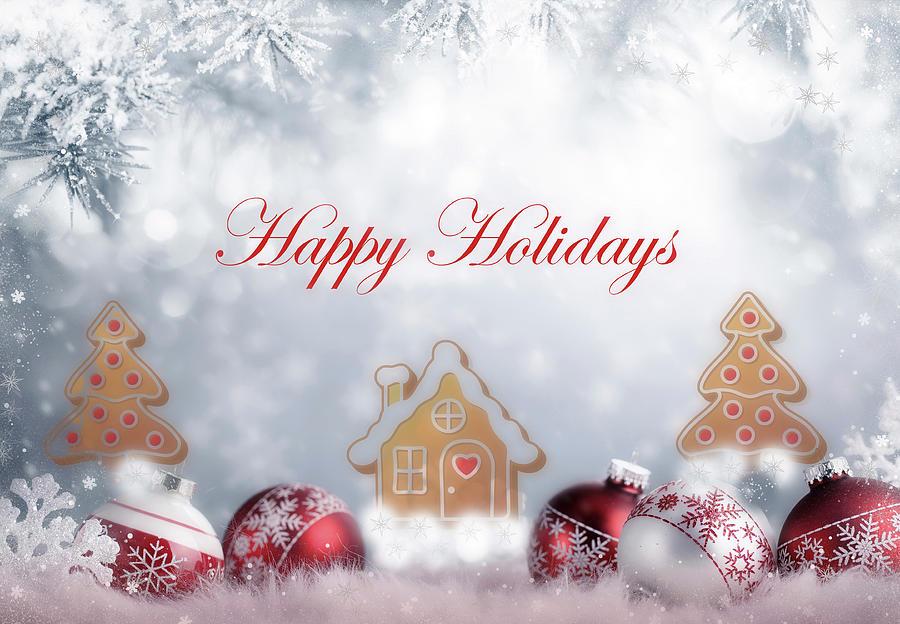 Joyful And Beautiful Happy Holidays Design by Johanna Hurmerinta