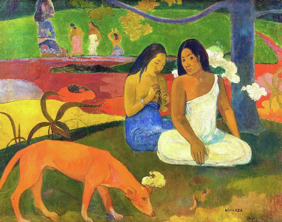 Joyfulness Painting - Joyfulness - Digital Remastered Edition by Paul Gauguin