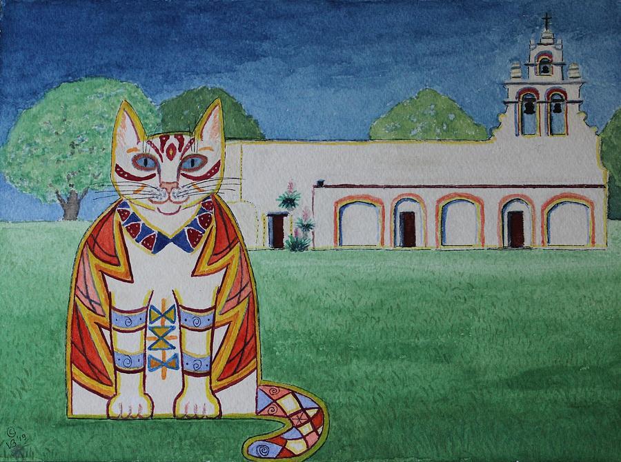 Juanita, Mission San Juan Cat by Vera Smith
