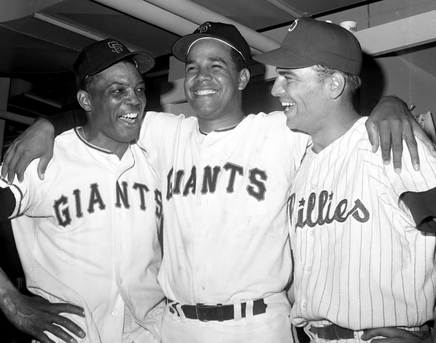 Jubilant Nlers L-to-r Giants Willie Photograph by New York Daily News Archive