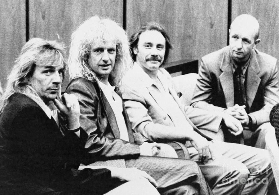 Judas Priest Members In Court Photograph by Bettmann