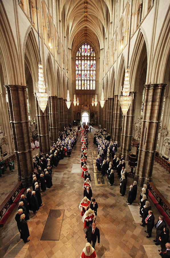 Judges Attend Their Annual Service Of Photograph by Dan Kitwood