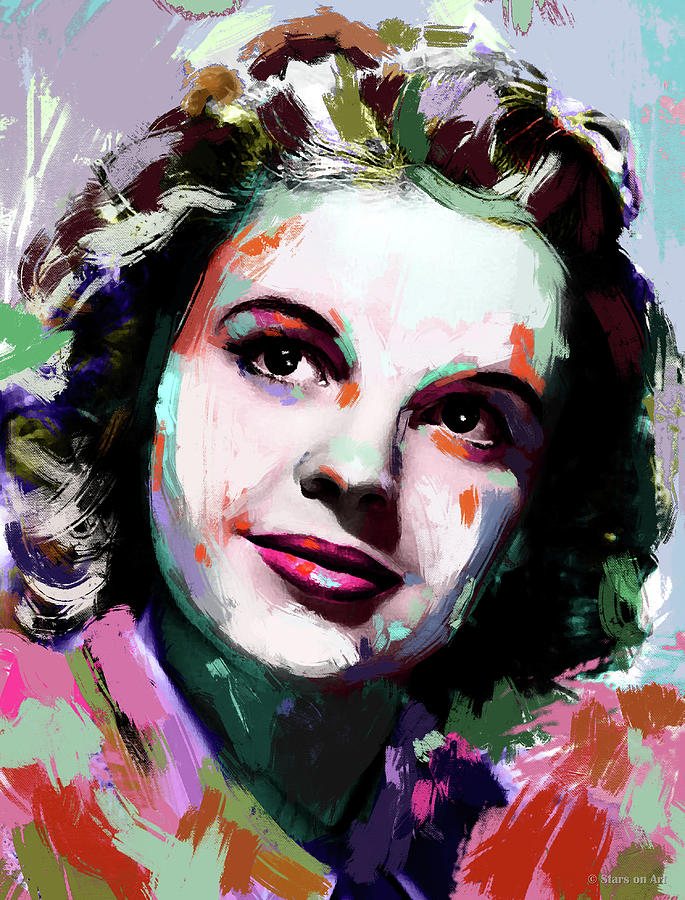 Judy Garland painting by Stars on Art