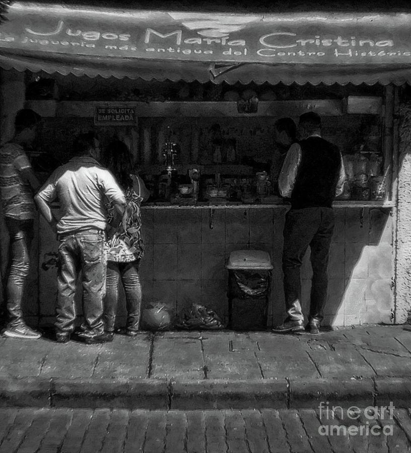 juice stand in old mexico by John Kolenberg