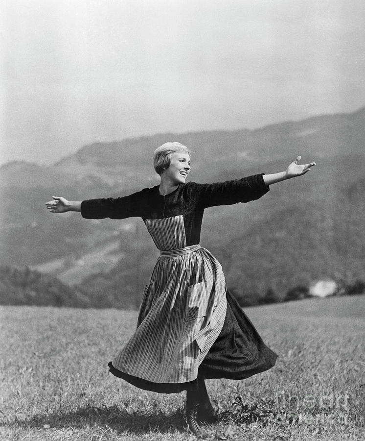Julie Andrews In The Sound Of Music Photograph by Bettmann
