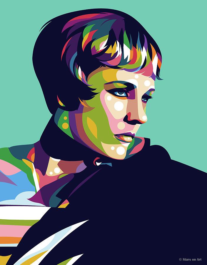 Julie Andrews Digital Art