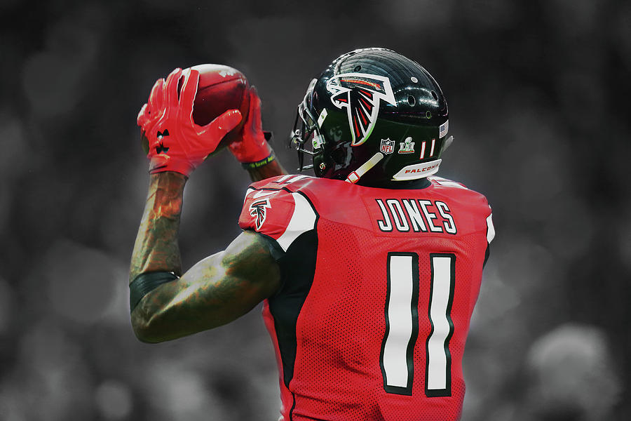 Julio Jones Mixed Media - Julio Jones by Brian Reaves