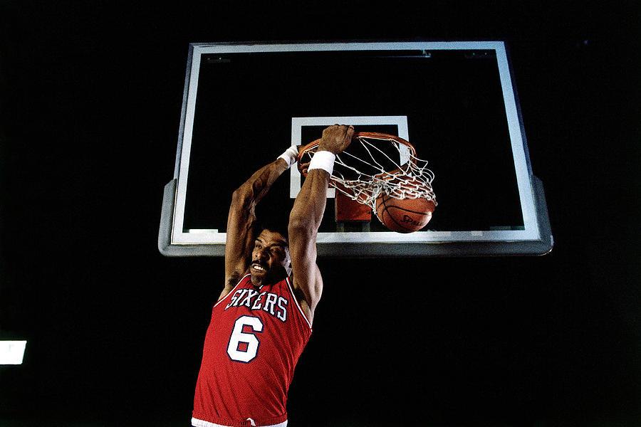 Julius Erving Slam Dunk Photograph by Walter Iooss Jr.