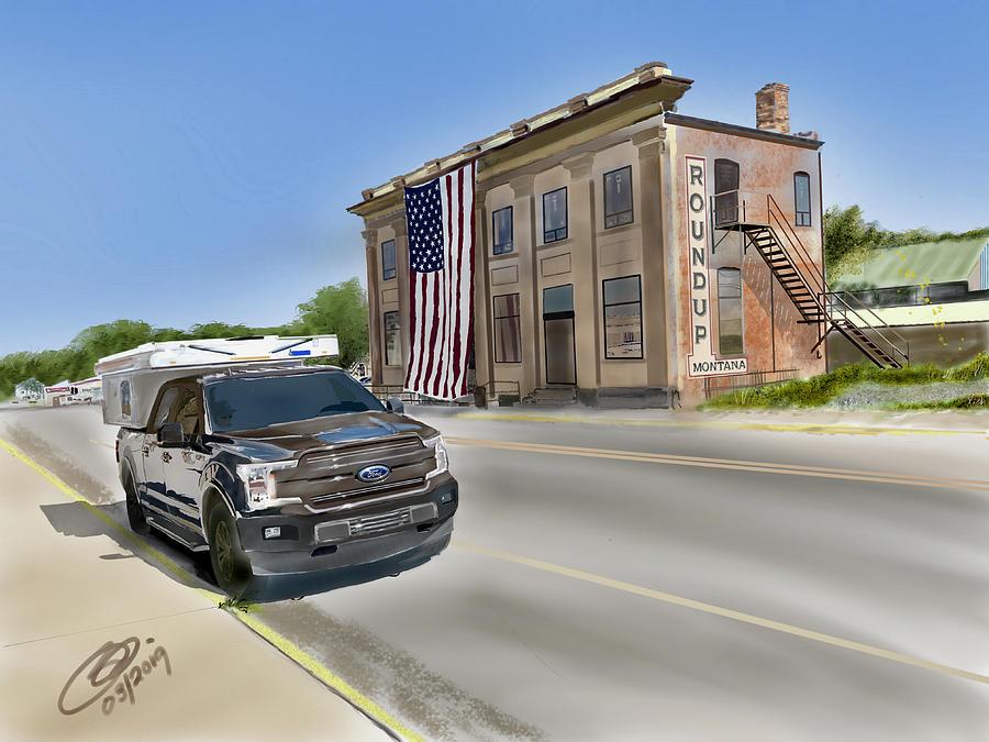 July Roundup Montana  by Joel Deutsch
