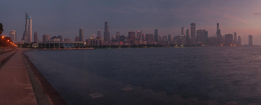 July Sunrise in Chicago by Miguel Winterpacht