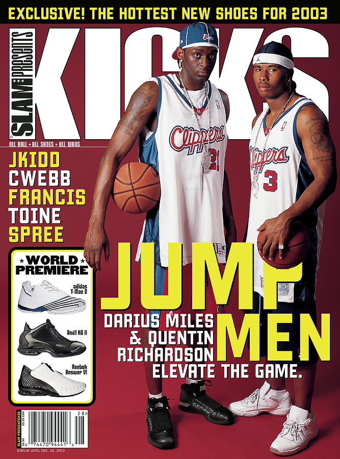 Jump Men: Darius Miles & Quentin Richardson Elevate the Game. SLAM Cover Photograph by Atiba Jefferson
