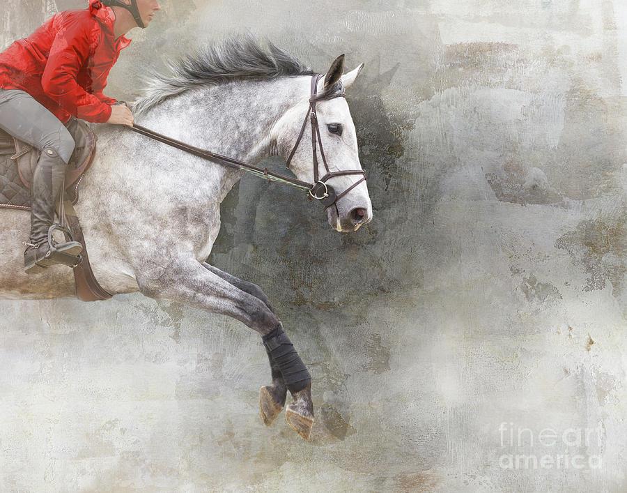 Jumping Dapple Gray  by Jean Kirby