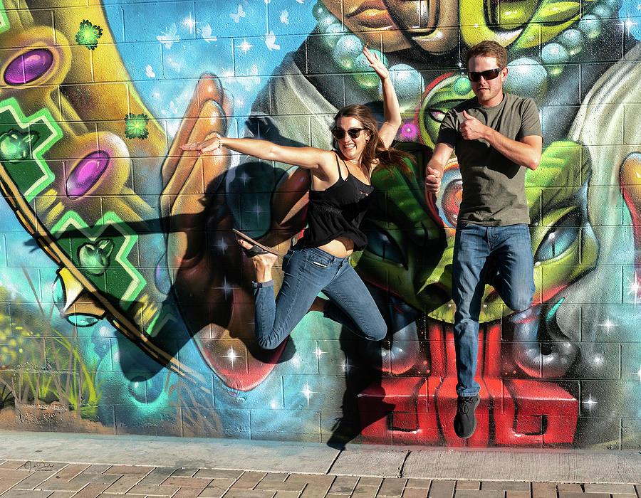 Jumping for Street Art by Judi Dressler