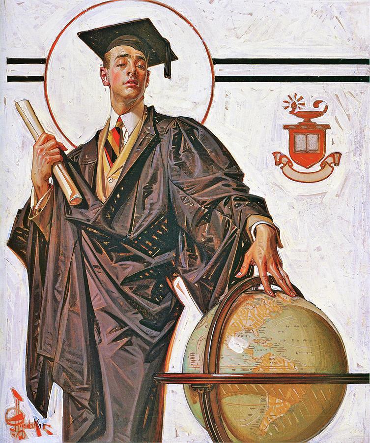 Joseph Christian Leyendecker Painting - June Graduation - Digital Remastered Edition by Joseph Christian Leyendecker