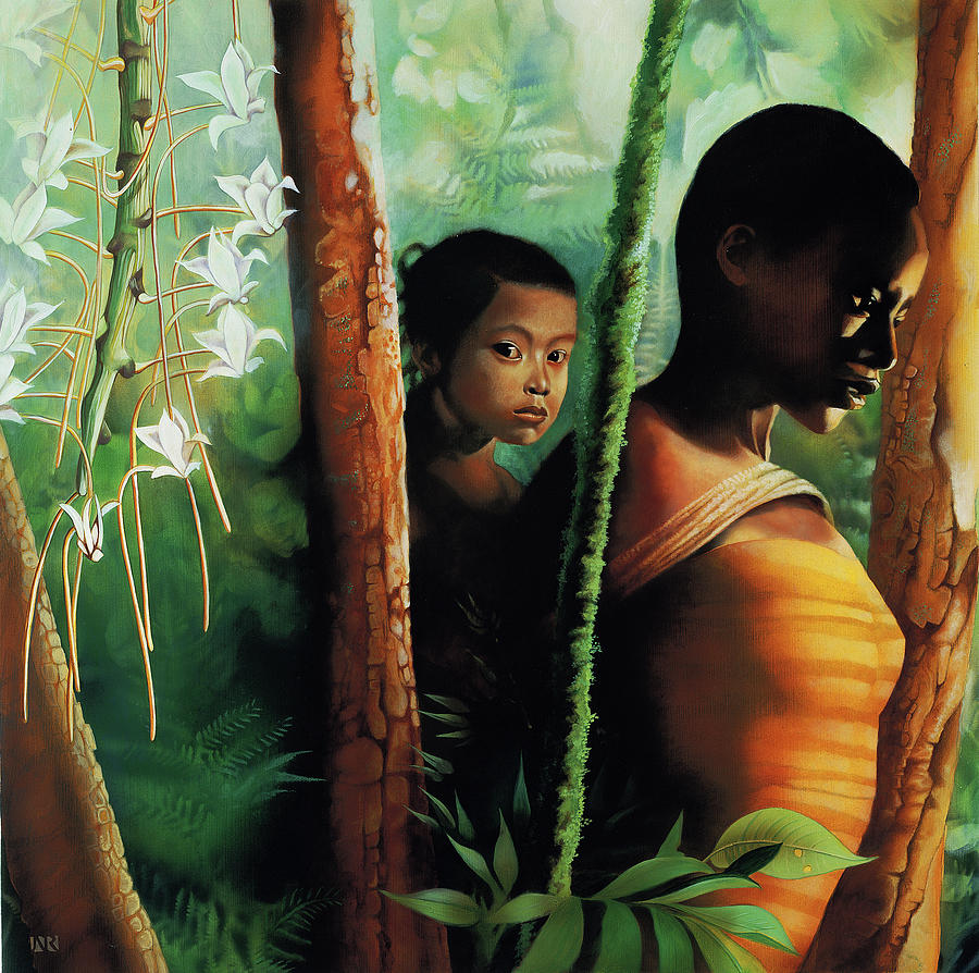 Visual Arts Painting - Jungle Child by John Rowe