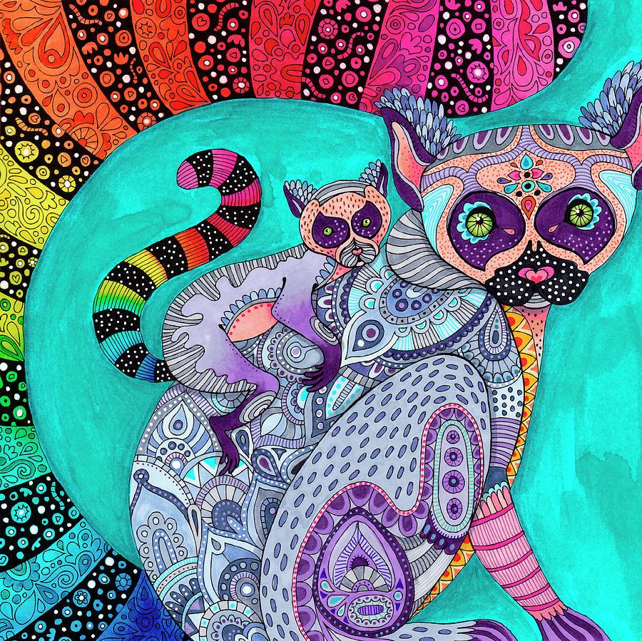 Animals Digital Art - Jungle Safari 13 - Color by Hello Angel