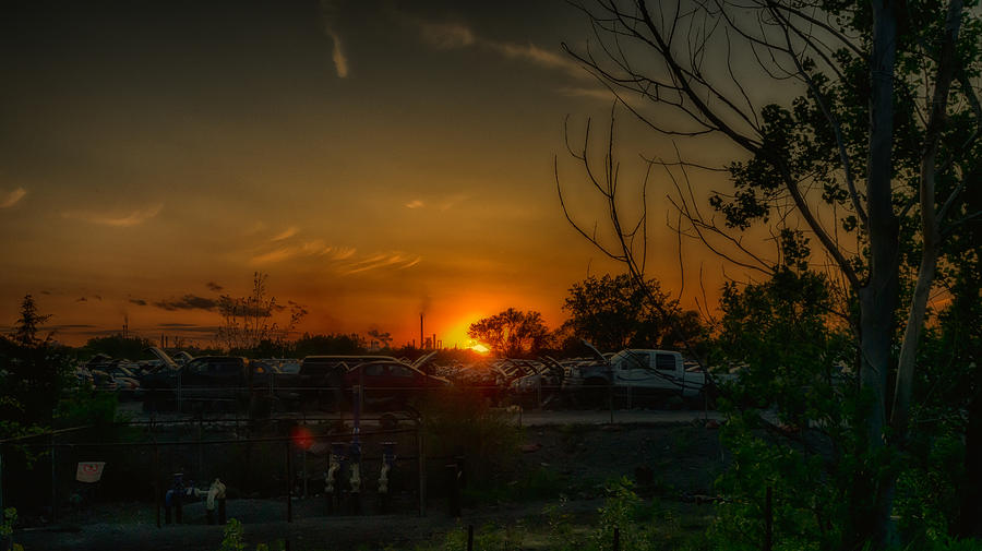 Junk Yard Sunset by Joseph Amaral