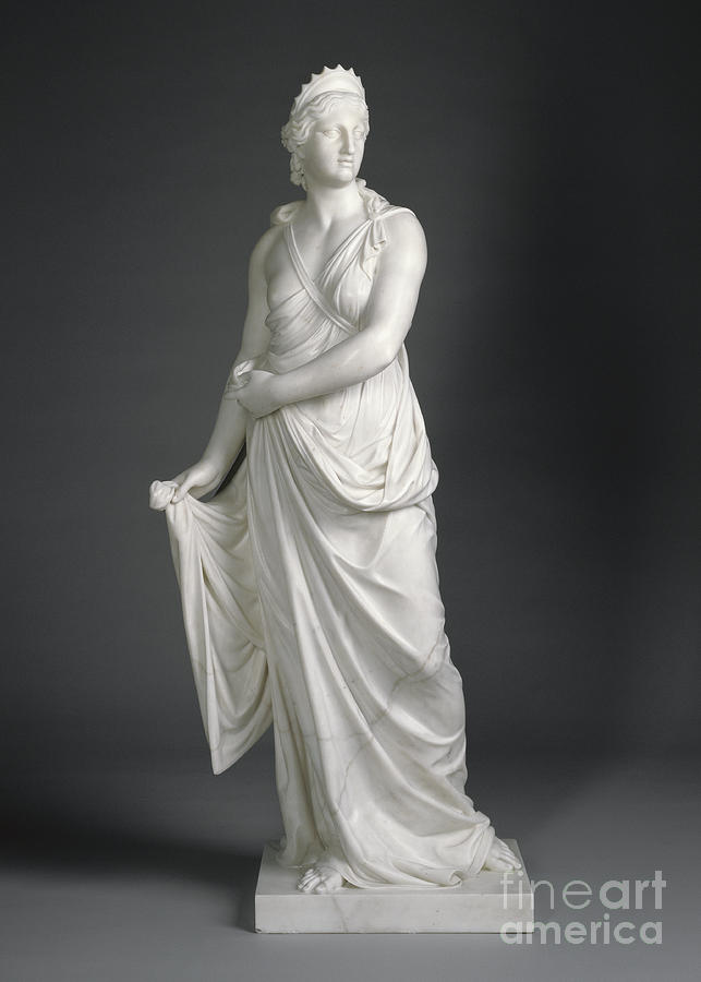 Juno Sculpture - Juno, 1776 Marble by Joseph Nollekens